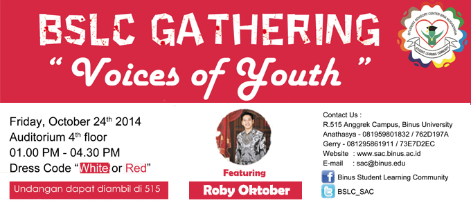 """Voices Of Youth"" BSLC GATHERING 2014"