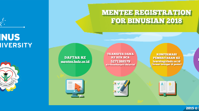 Open Registration For Mentee Binusian 2018!